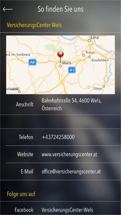 Screenshot von VersicherungsCenter Wels4