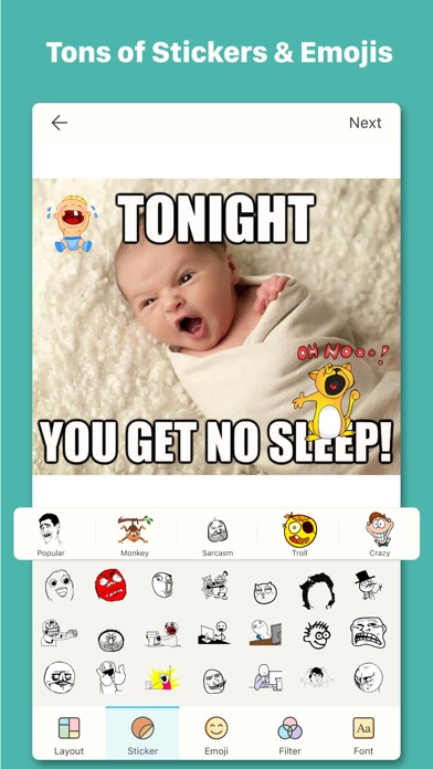 Screenshot for Meme Maker - Meme Creator & Photo Meme Generator in Estonia App Store