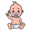 download Animated cool baby stickers