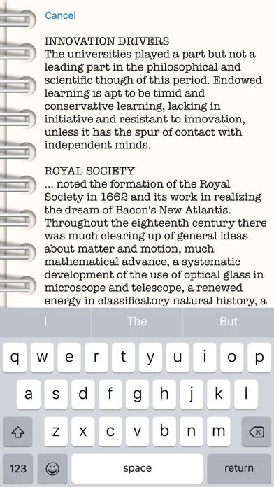Screenshot of HurleyWrite App