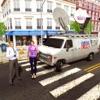 城市犯罪新闻记者卡车