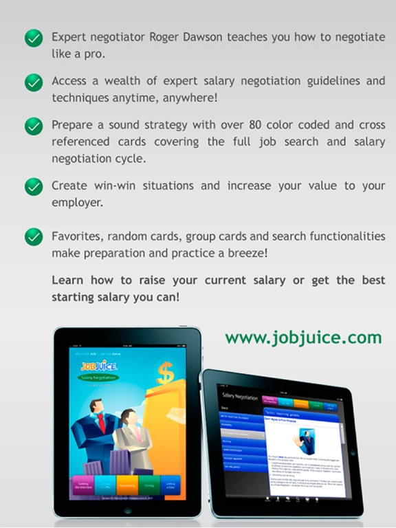 Jobjuice-Salary Negotiation Screenshots