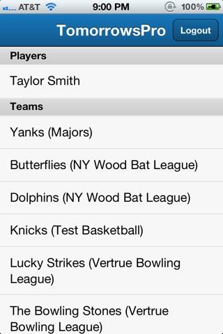 TomorrowsPro - Sports Stats screenshot 1