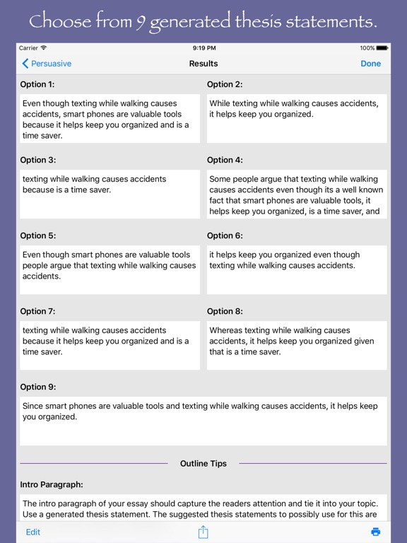 what is a thesis generator This tool tackles that fear by allowing kids to fill out the thesis statement graphic organizer in a digital format  outline generator :  note that this .