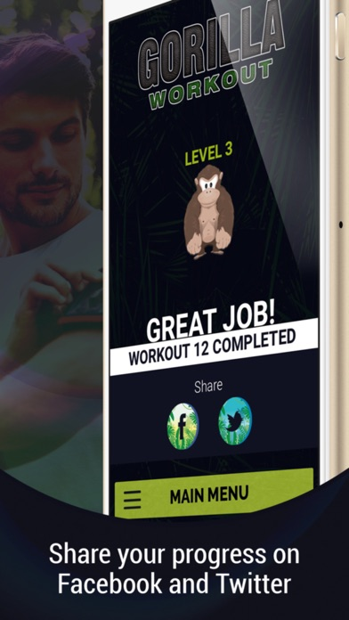 Gorilla Workout : Athletic Fitness Training on a Budget Screenshot 4