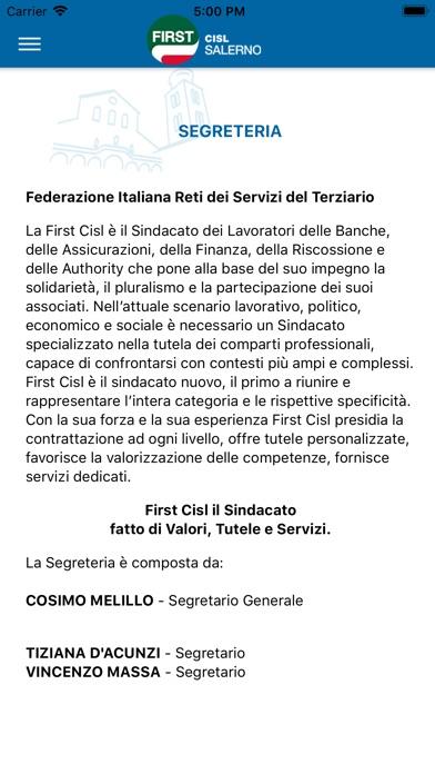 Screenshot of CISL FIRST Salerno4