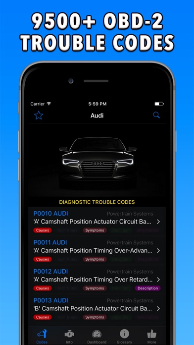 OBD-2 Audi Screenshots