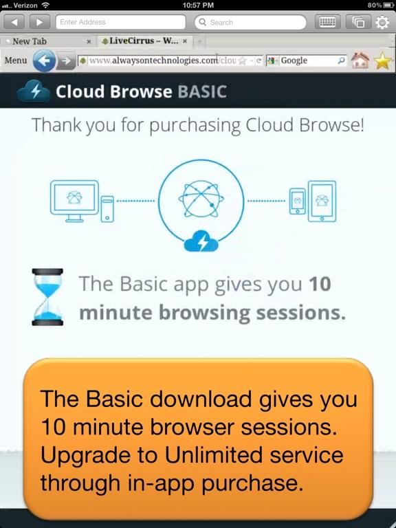 Cloud Browse Screenshots