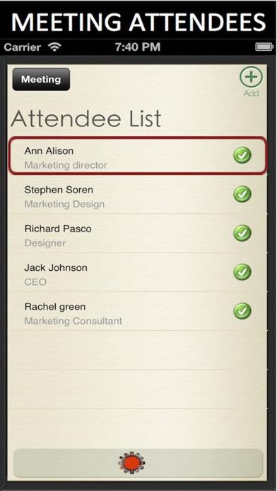 Meeting Pad for iPhone Screenshot