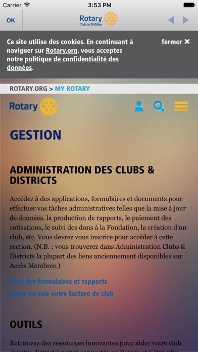 Capture d'écran de Rotary Club St-Gilles4