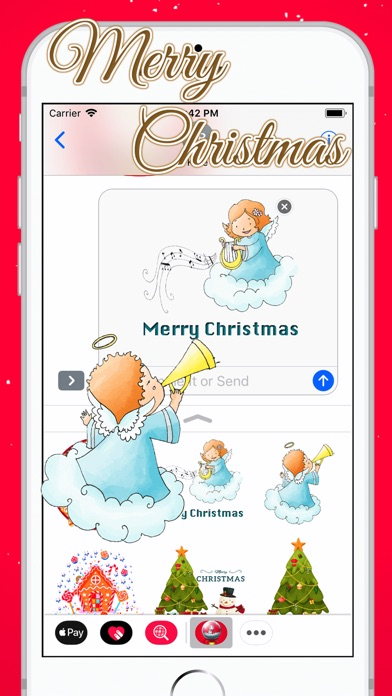 Hello White Christmas Sticker review screenshots