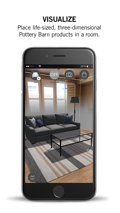 The new Pottery Barn 3D Room View app is available on the App Store now for free. Below are all of the features and a video demonstration Below are all of the features and a video demonstration.