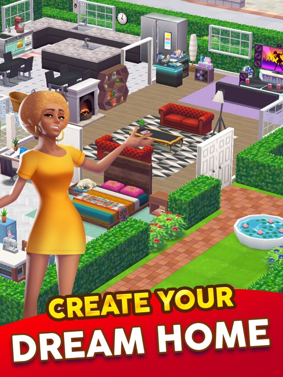 Home street dream house sim app voor iphone ipad en for Home building apps for iphone