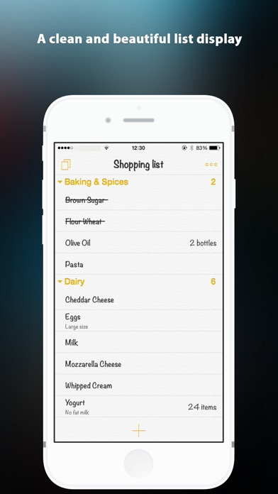 SuperList (Shopping List) Screenshots