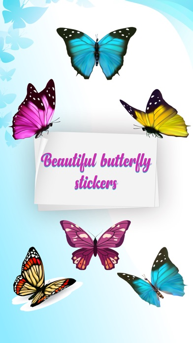 Butterfly Animated Stickers screenshot 1