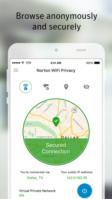 Norton WiFi Privacy VPN screenshot 2