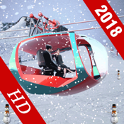 Tourist Chairlift In Snow