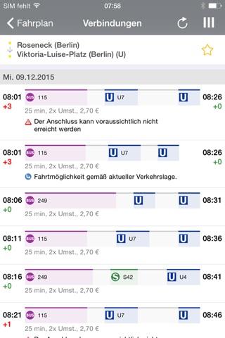 BVG FahrInfo Plus Berlin screenshot 1