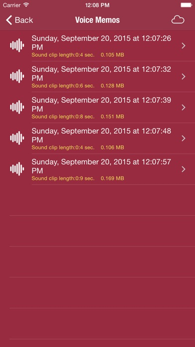 My Sound Recorder Screenshots