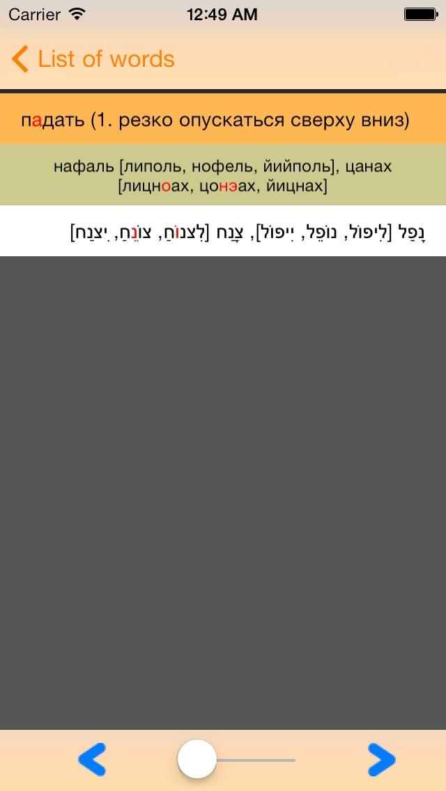 IRIS - mobile hebrew russian hebrew dictionary Screenshot 5