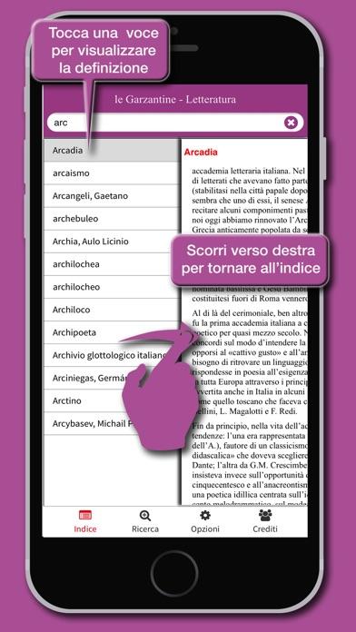 Screenshot of le Garzantine - Letteratura3