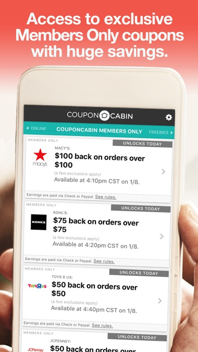couponcabin on the app store ForCoupon Cabin App
