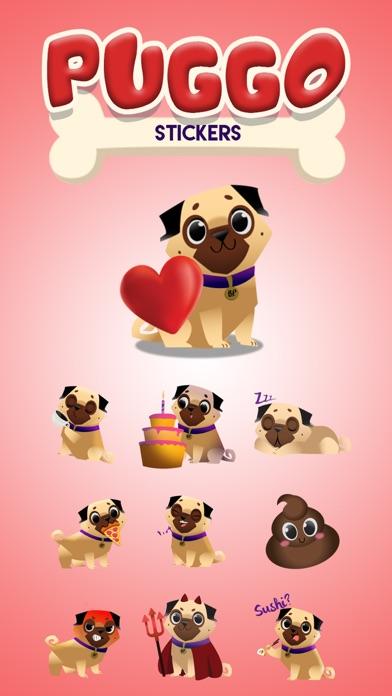 Screenshot of Puggo Stickers - Animated1