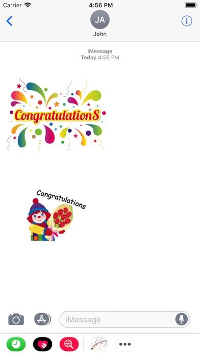 Congratulations Stickers 2018Скриншоты 3