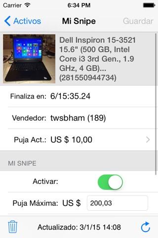 Myibidder Auction Sniper PPS screenshot 3