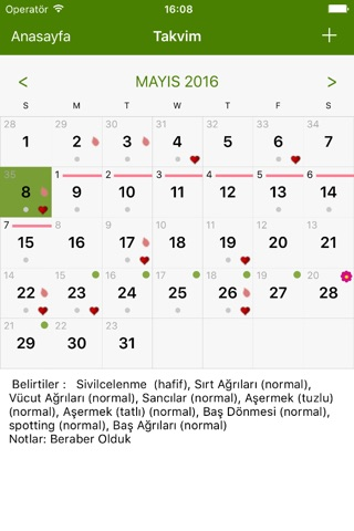 Period Tracker Lite screenshot 2