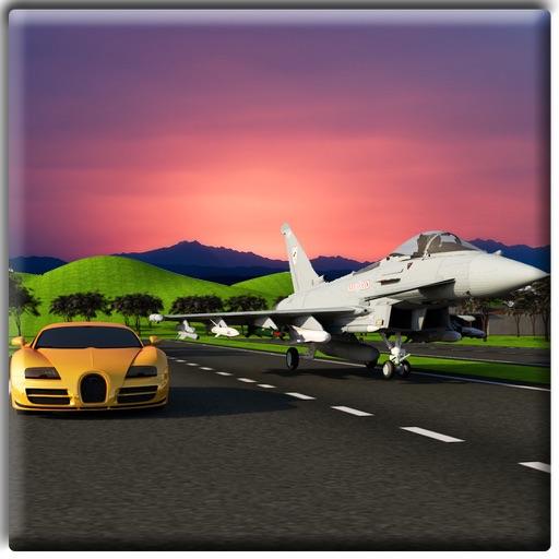 Jet Plane Vs Car Racing 3D