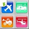 交通工具拼圖遊戲: 雪糕車和巴士等