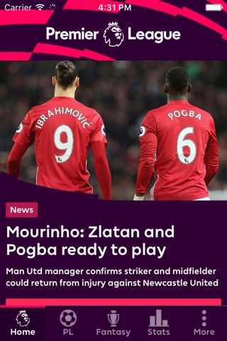 Premier League - Official App screenshot 1