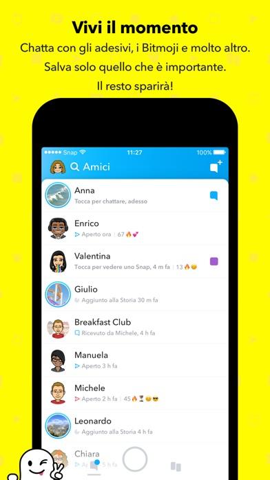Screenshot of Snapchat2
