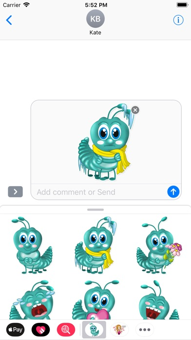 Larva Stickers For Imessage review screenshots