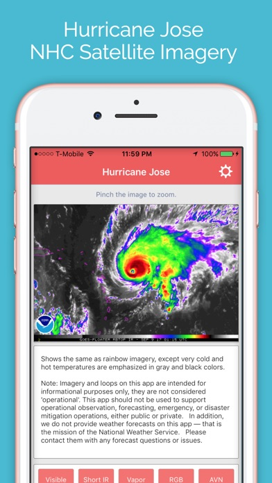 Hurricane Jose - Storm Tracker Screenshots