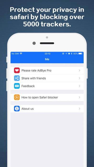 AdBye Pro-stop web pop-up ads Screenshots