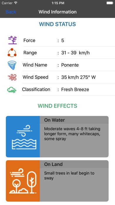 прогноз ветраСкриншоты 2
