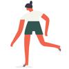 Luke Bowes - I'm A Runner Running Stickers  artwork