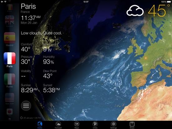 3D Земля - виджет погода Скриншоты8