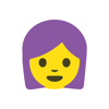 download Purple Hair Emoji Stickers
