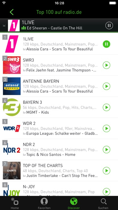 radio.de - Der Radioplayer Screenshot