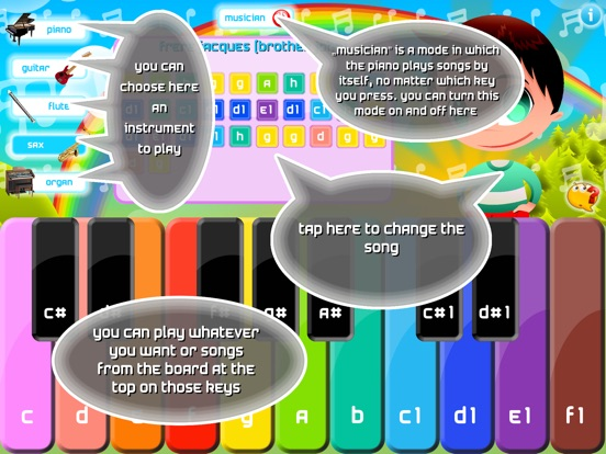 Kids Piano - children songs and music sheets Screenshots