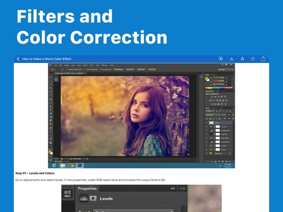 Screenshots of Easy Photoshop Tutorials For Beginners for iPad