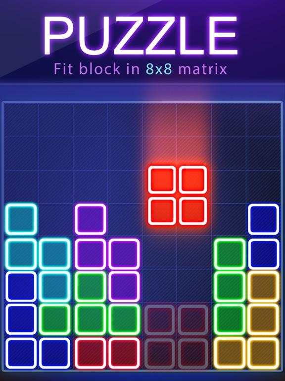 головоломка блок - свечение на iPad