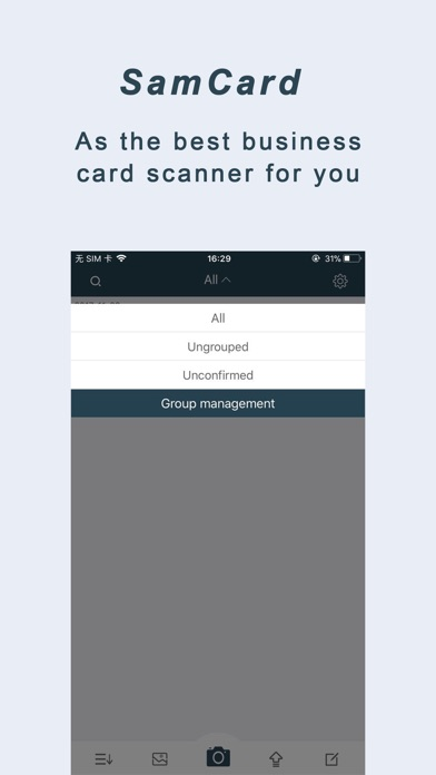 Samcard business card scanner iphone app appwereld for Iphone app for business cards