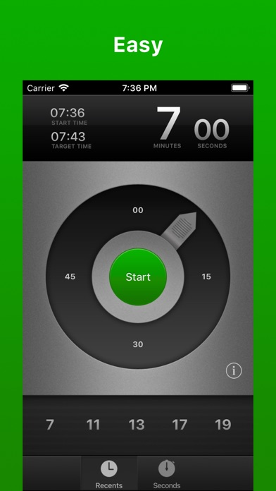 Screenshot Pronto — Timer App