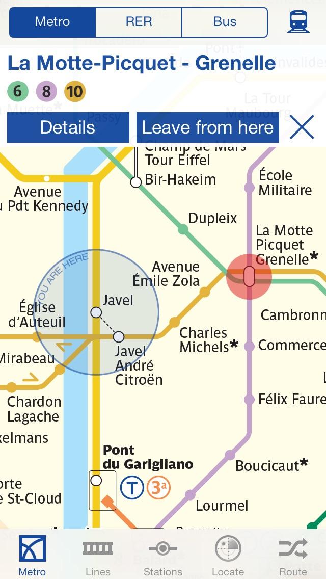 パリの地下鉄 乗換案内 screenshot1