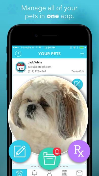 Screenshots of PetDesk for iPhone