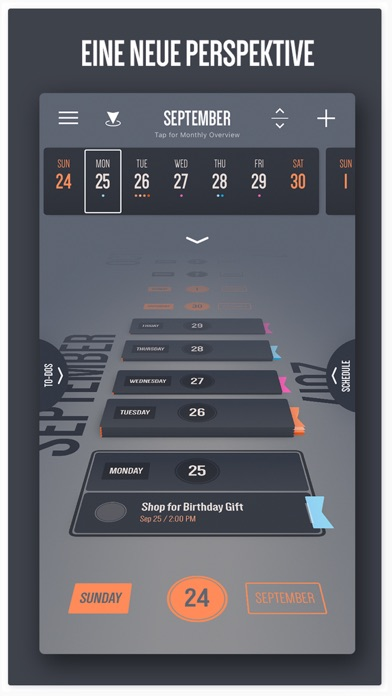 Vantage Kalender Screenshot